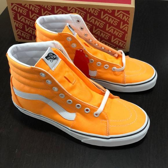 Vans Shoes | Vans Sk8hi Neon Blazing